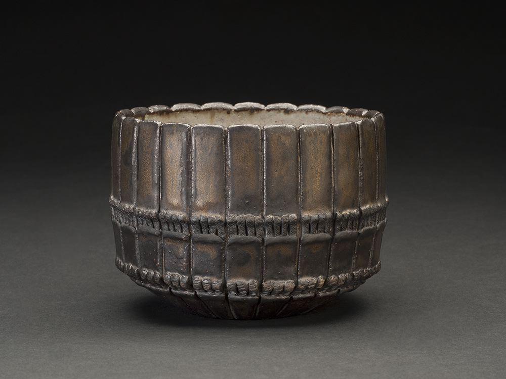 Takashi Tanaka    The Armor of Moonlight (bowl)  , 2014 Ceramic 3.25 x 4.5 x 4.5 inches 8.3 x 11.4 x 11.4 cm TTa 10