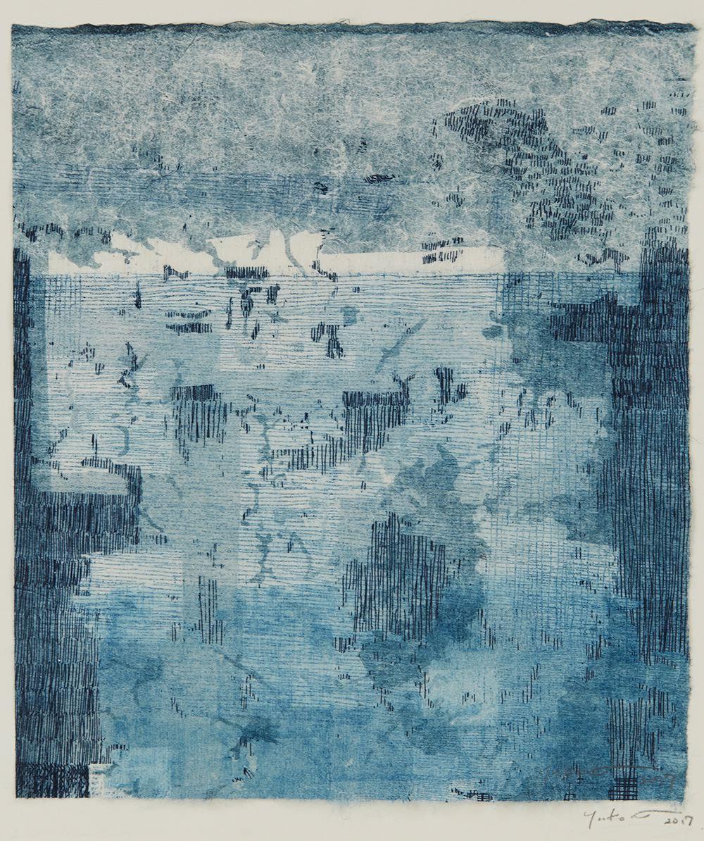 Yuko Kimura    Ghost Mushikui  , 2017 Etching, monotype on mulberry handmade paper 8 x 7.25 inches 20.3 x 18.4 cm YuK 57