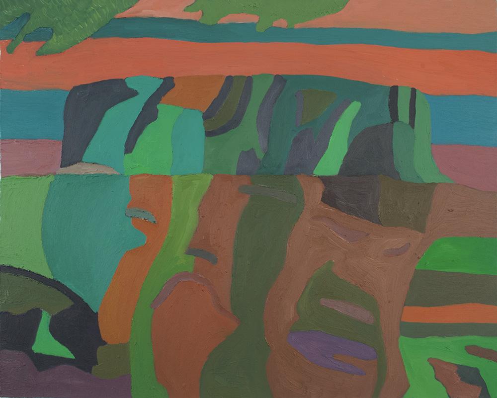 Takurou Shirai    Ayers Rock  , 2012 Oil on canvas 28.43 x 35.83 inches 72.2 x 91.0 cm TSh 2