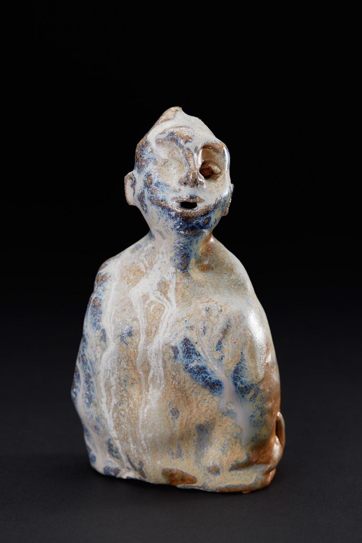 Chrissy Callas    Blue Fragman  , 2000 Ceramic 6 x 3.25 x 2 inches 15.2 x 8.3 x 5.1 cm CCa 40
