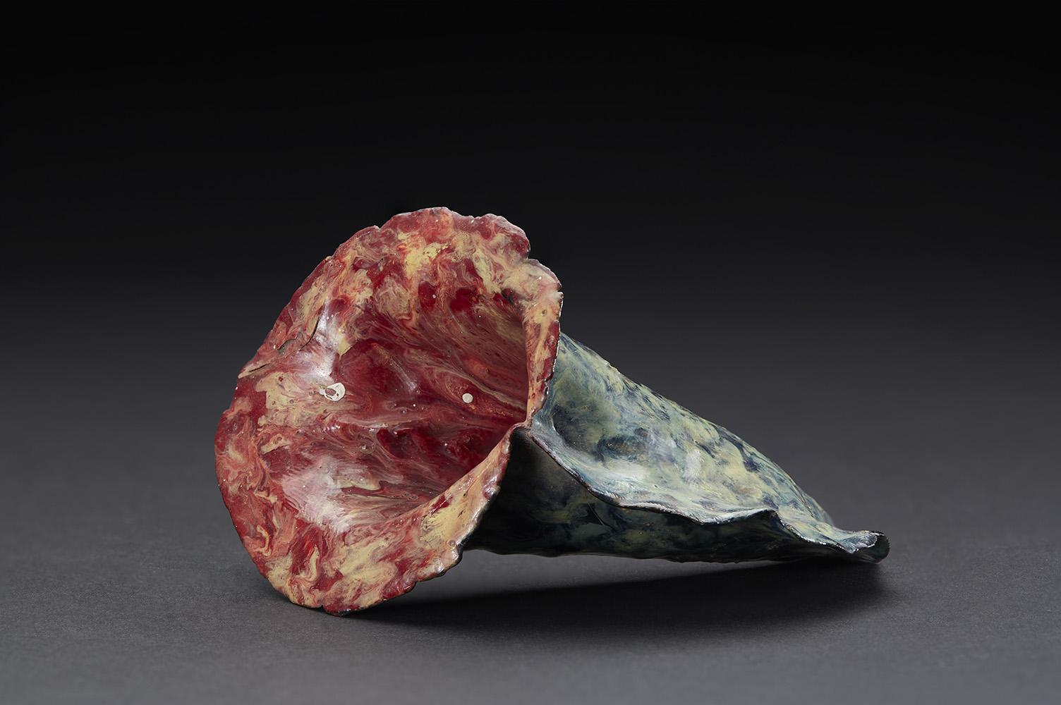 Eugene Von Bruenchenhein    Untitled  , 1960-1980 Hand dug clay and paint 3 x 4 x 3 inches 7.6 x 10.2 x 7.6 cm EV 48