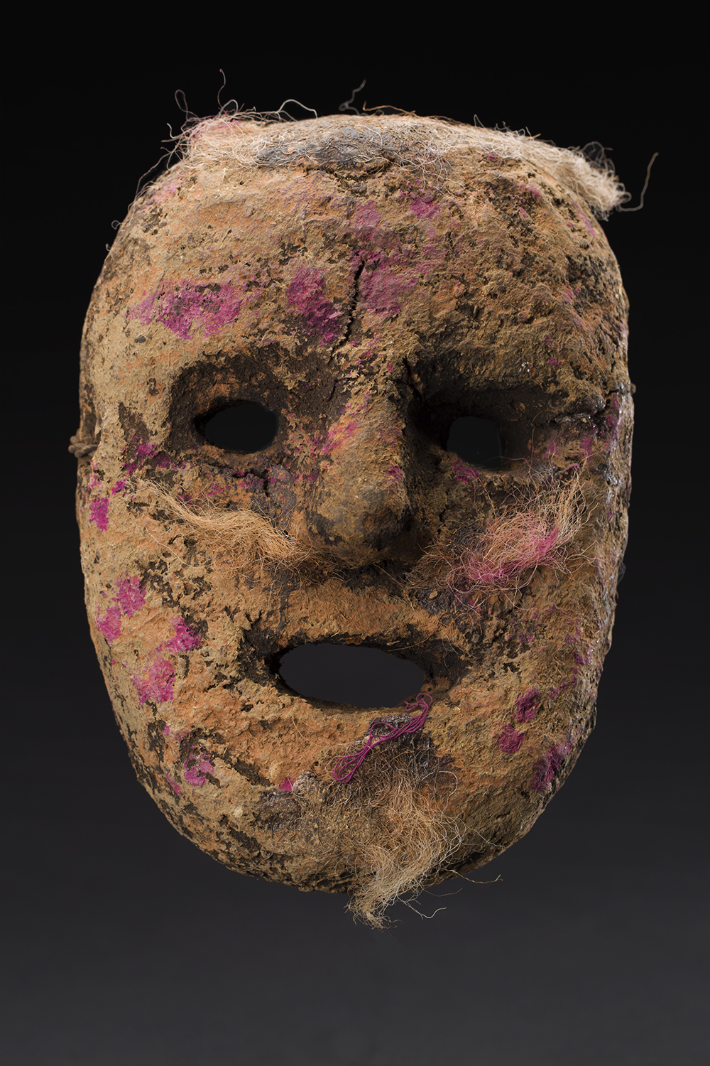 Masks    Nepal  , Early 20th C. Cow dung, clay, organic materials, fibers 8 x 6 x 3 inches 20.3 x 15.2 x 7.6 cm M 235