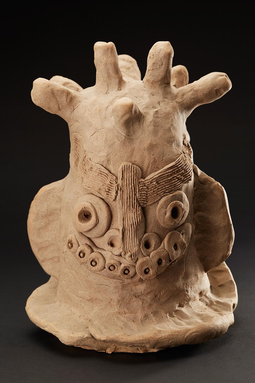 Masami Yamagiwa    Face  , 2004 Fired Ceramic 13 x 6 x 9 inches 33 x 15.2 x 22.9 cm MYa 12