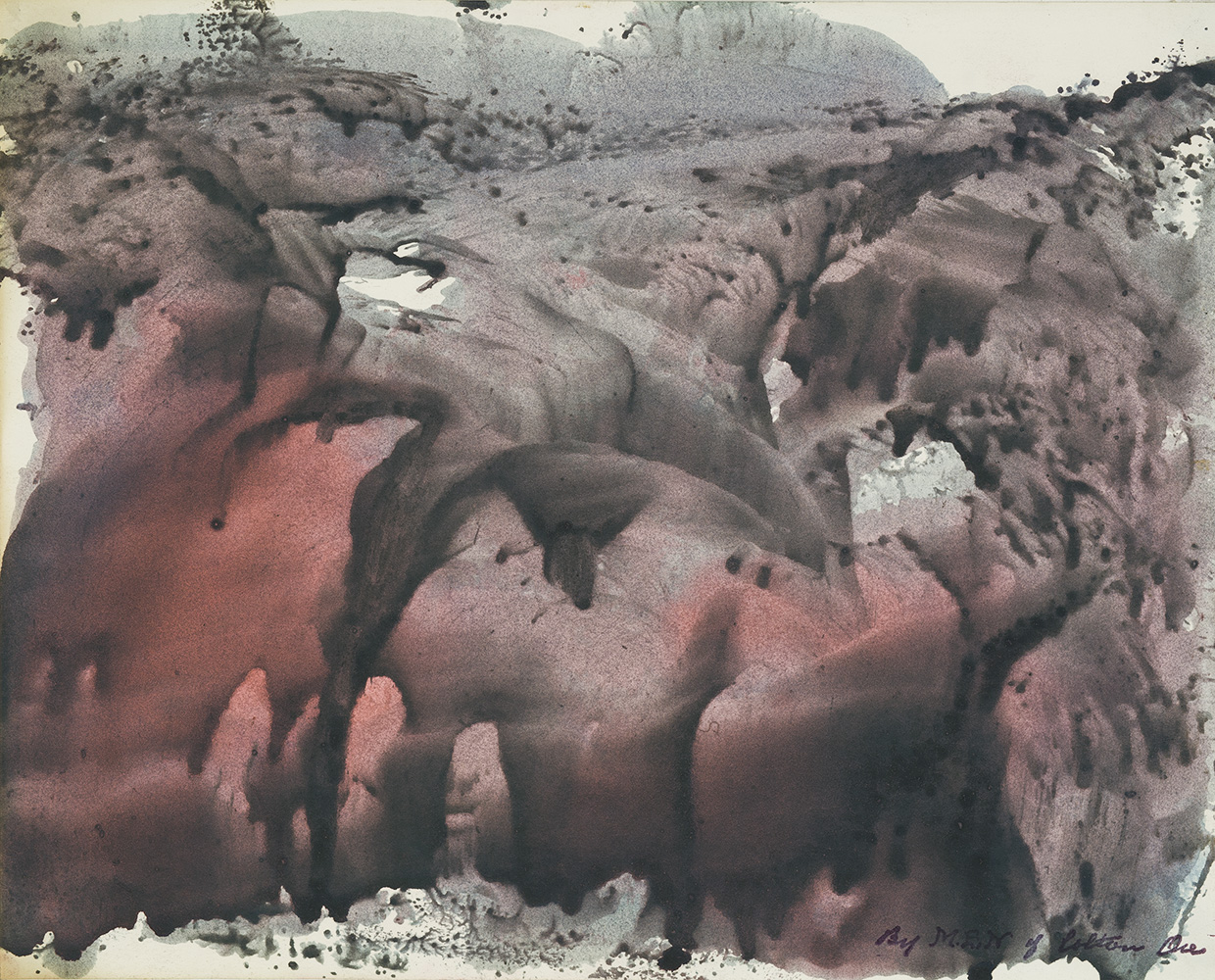 Melvin Edward Nelson    Untitled  , c. 1961-1965 Mineral Pigment on Paper 11 x 13.5 inches 27.9 x 34.3 cm Nel 90