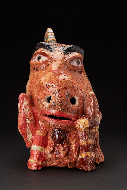 Peter Cordova    Indian Head Tail  , 2017 Glazed ceramic 14 x 10 x 9 inches 35.6 x 25.4 x 22.9 cm PeCo 1