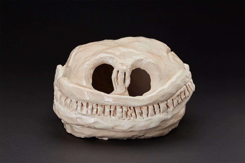 Ricardo Estella    Skull II  , 2013 Glazed ceramic 5.5 x 11.25 x 8 inches 14 x 28.6 x 20.3 cm REs 2