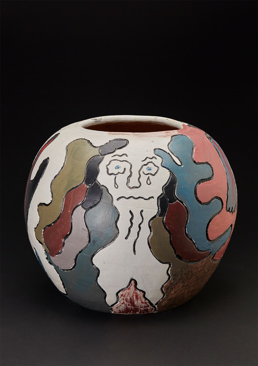 Sylvester Stephens    Art is Pain  , 1996 Polychromed terracotta 12.5 x 14 x 14 inches 31.8 x 35.6 x 35.6 cm SS 5