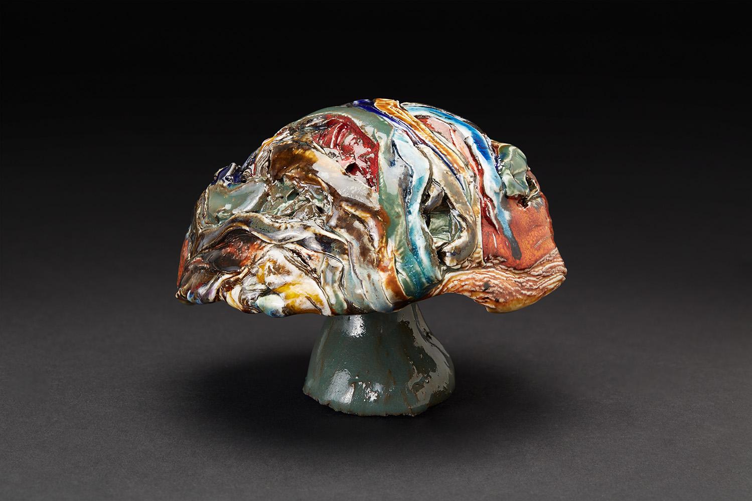Straiph Wilson    Balsur  , 2017 Ceramic 4.25 x 5 x 5.25 inches 10.8 x 12.7 x 13.3 cm StWi 14