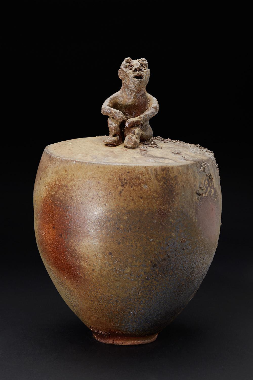 Chrissy Callas    Top Feeder  , 2012 Ceramic 15 x 9 x 9 inches 38.1 x 22.9 x 22.9 cm CCa 32