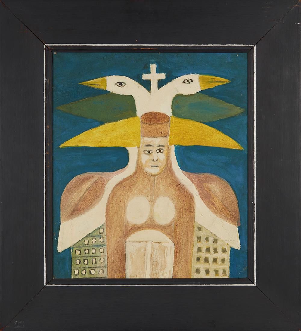 Sava Sekulić    Queen Bajavitovica  , 1974 Oil on canvas 16.25 x 13.75 inches 41.3 x 34.9 cm SvS 2