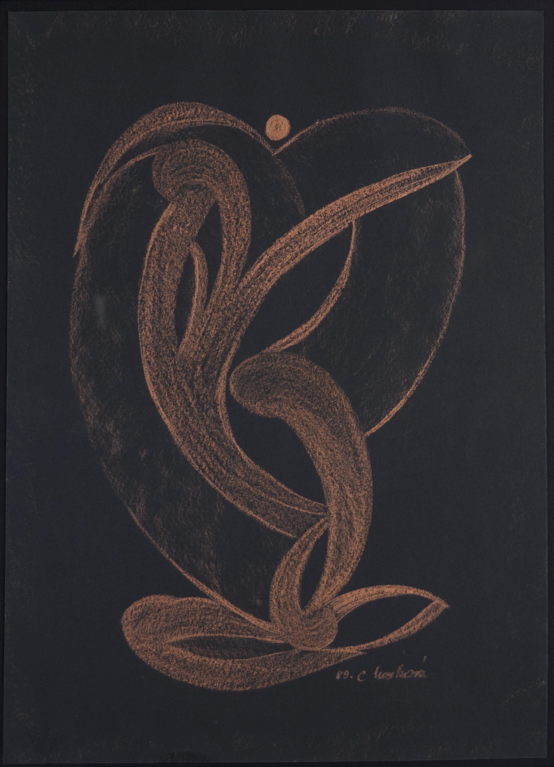 Cecilie Markova    Untitled  , 1989 Pastel/paper 16.5 x 12 inches 41.9 x 30.5 cm CMa 4