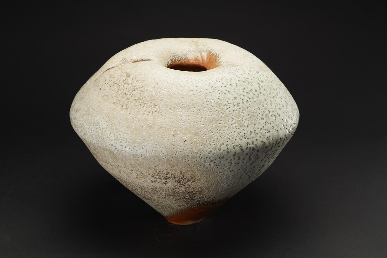 Gail Nichols    Shouldered Jar  , 2006 Soda glaze/stoneware 12 x 16 x 15 inches 30.5 x 40.6 x 38.1 cm GaN 15