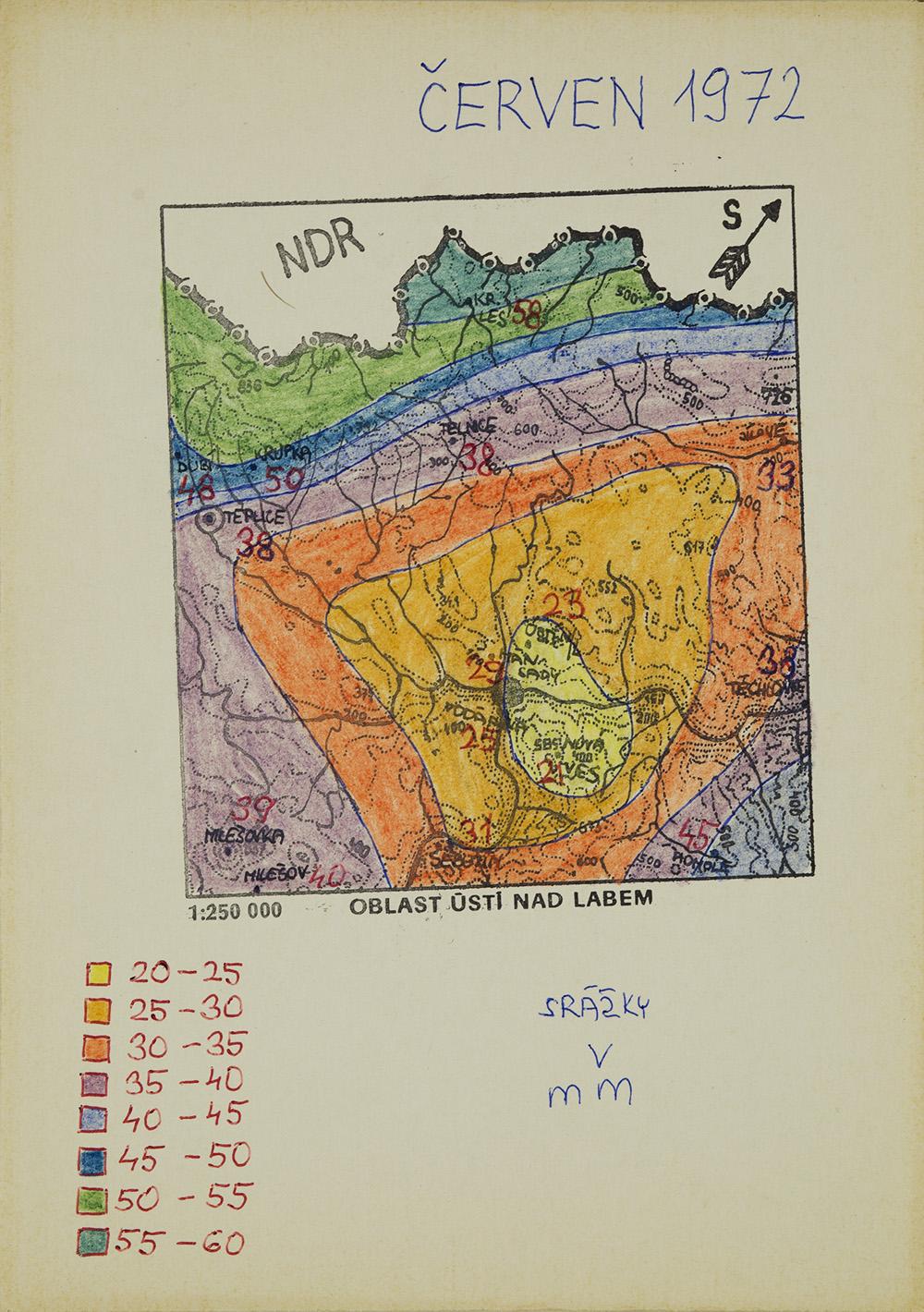Zdenek Kosek    Cerven 1972  , c. 1991 Ballpoint pen/marker, paper 8.25 x 6 in (21.0 x 15.2 cm) ZKo 69