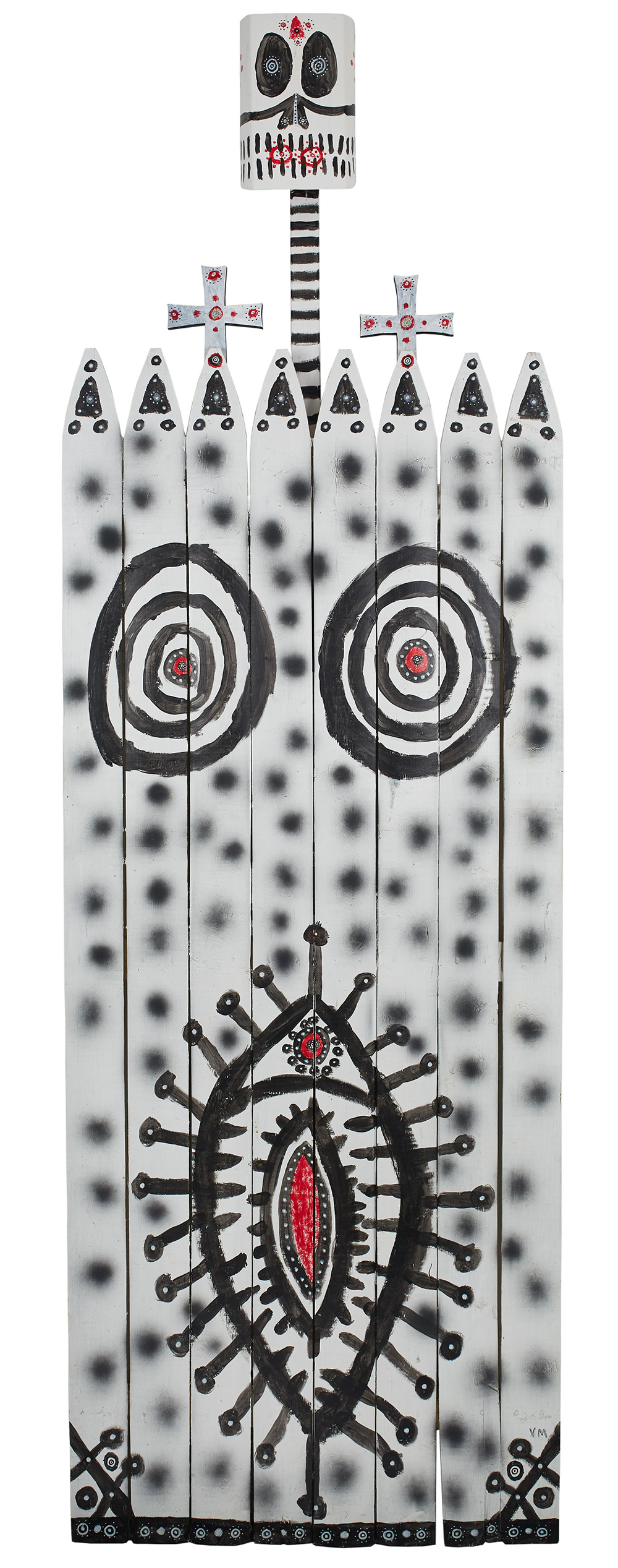 Gregory Van Maanen    Untitled  , n.d. Acrylic, spray paint on fence 89 x 29.5 x 3 inches 226.1 x 74.9 x 7.6 cm GVM 2546