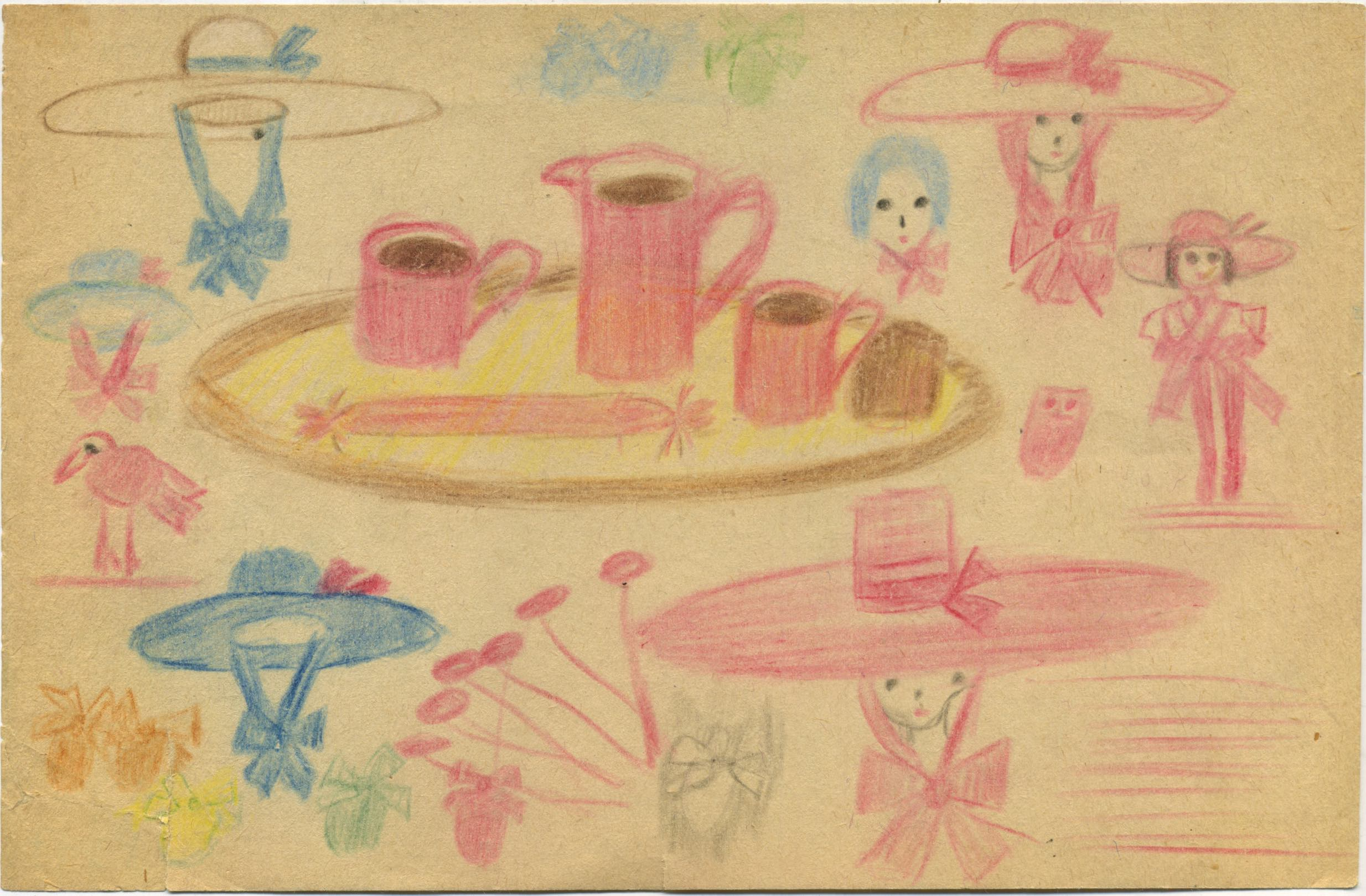 Bertha Wuilleumier    Untitled  , 1953 Color pencil on paper 5.4 x 8.2 inches 13.7 x 20.8 cm BWu 4