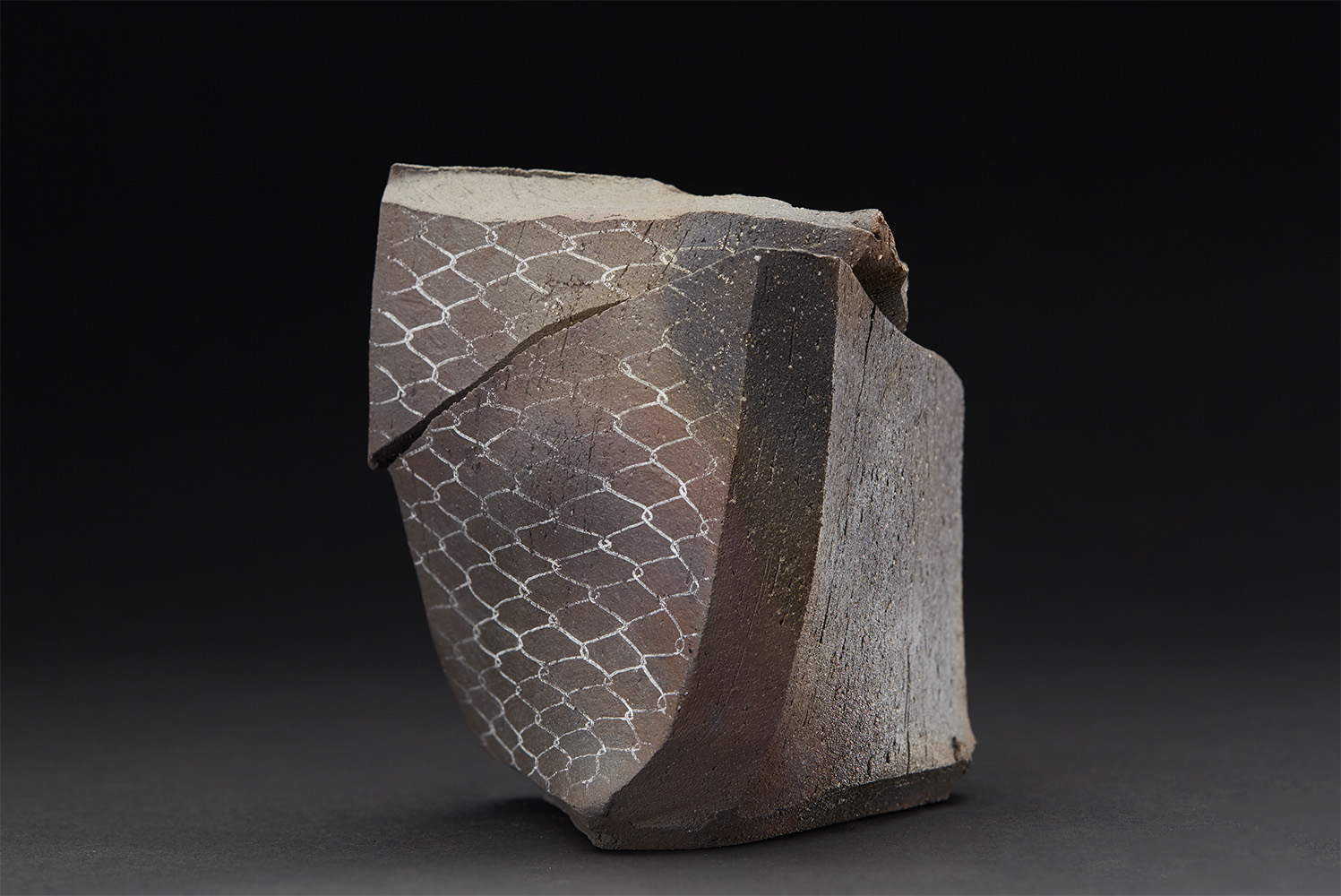 Shozo Michikawa    Tanka Wave Pot  , n.d. Ceramic 4.61 x 4.13 x 4.13 inches 11.7 x 10.5 x 10.5 cm SMi 27