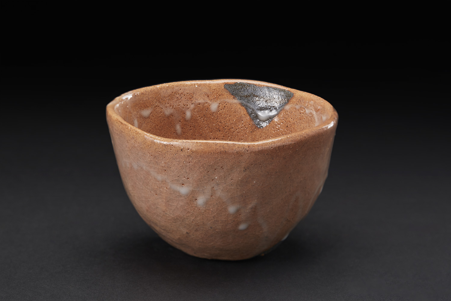 Shozo Michikawa    Tea Bowl  , 2010 Stoneware with Benikohiki glaze 3.19 x 4.49 x 4.49 inches 8.1 x 11.4 x 11.4 cm SMi 25