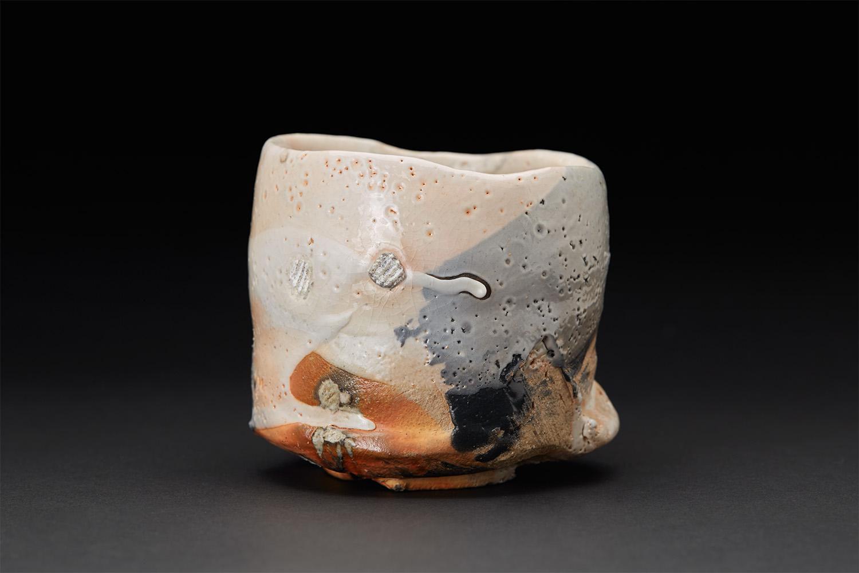 Jeff Shapiro    Red Earth Bottom Chawan  , 2006 Woodfired stoneware 4 x 4.25 inches 10.2 x 10.8 cm JSh 18