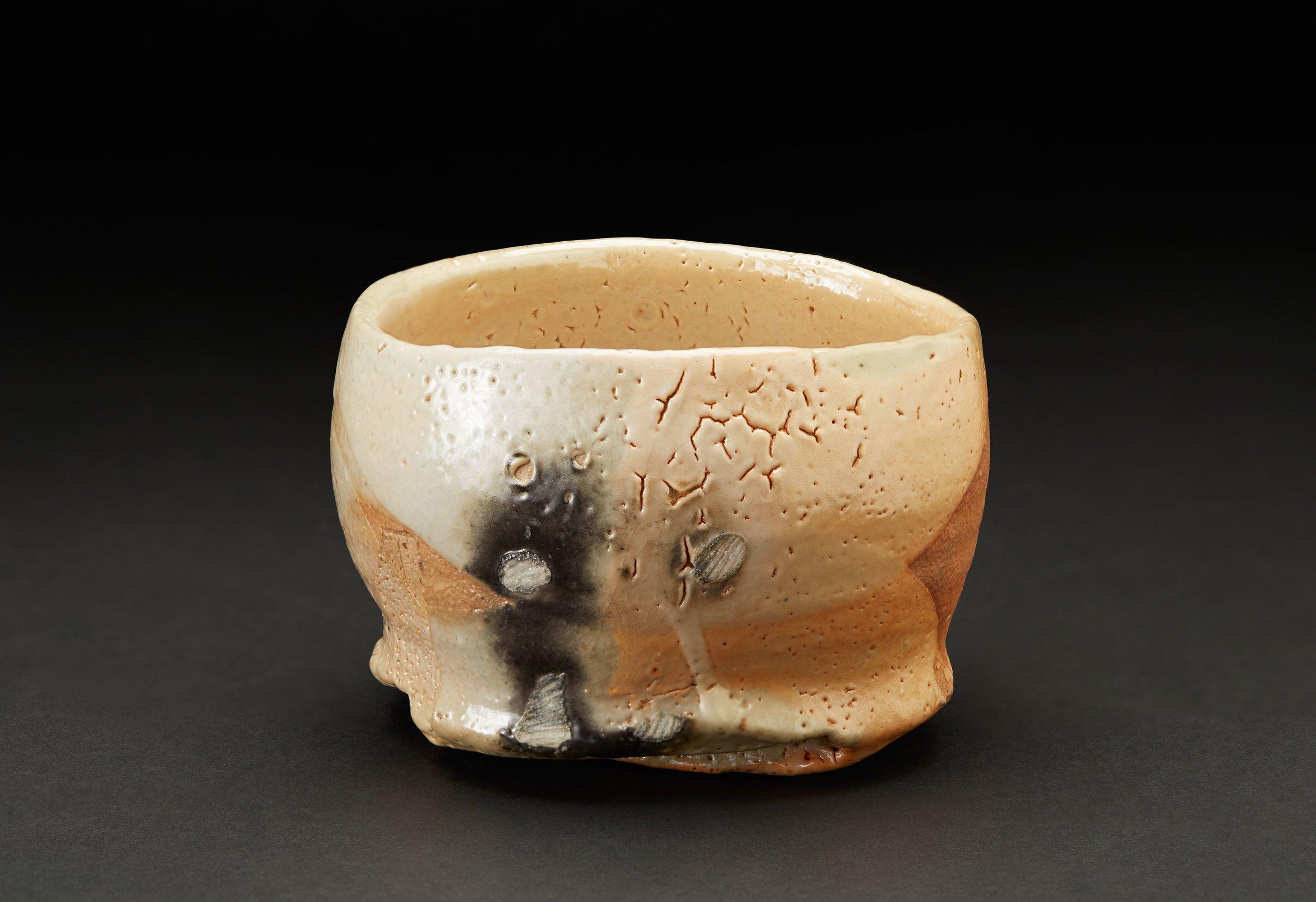 Jeff Shapiro    Chawan  , 2008 Woodfired Ceramic 4.75 x 4.5 x 3 inches 12.1 x 11.4 x 7.6 cm JSh 29