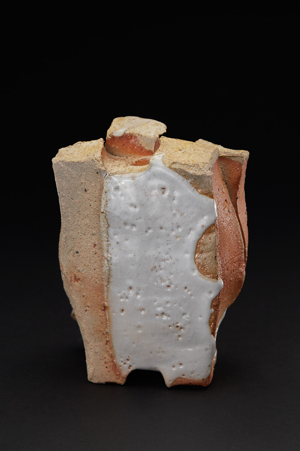 Shozo Michikawa  Small Twist Form  , 2011 Stoneware with Shino glaze 5.75 x 4 x 2.5 inches 14.6 x 10.2 x 6.4 cm SMi 28