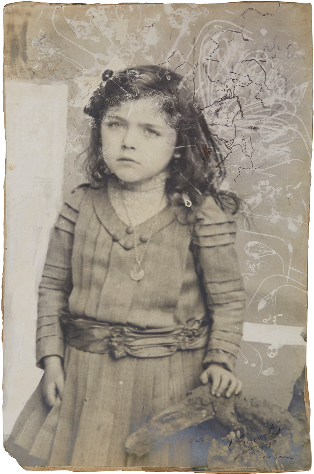 Coco Fronsac  Spiritualist Photo Series  , 1985/2010 Ink, etching on vintage photograph 14.06 x 9.17 inches 35.7 x 23.3 cm CoF 12