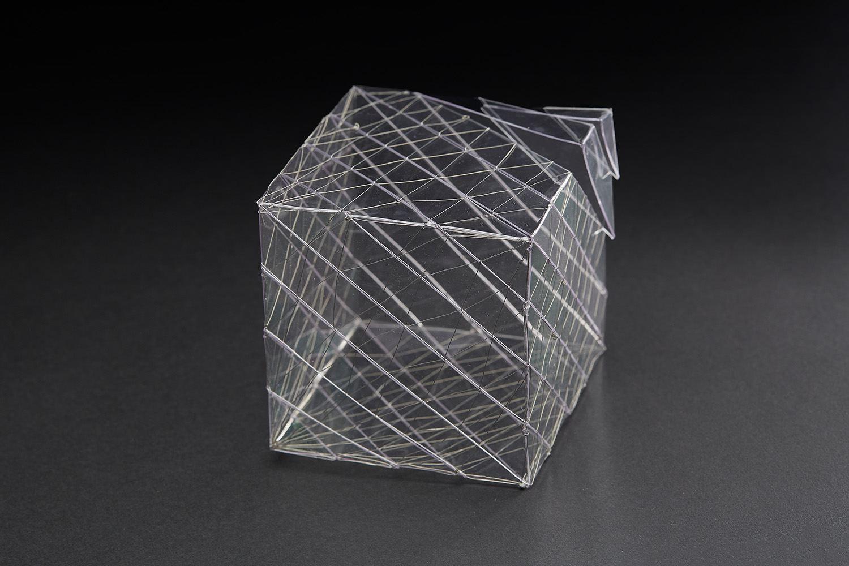 Yohko Kubo  Modeled after.... Cube  , 2010 Polycarbonate, copper wire 3.94 x 3.94 x 3.94 inches 10 x 10 x 10 cm Kub 2