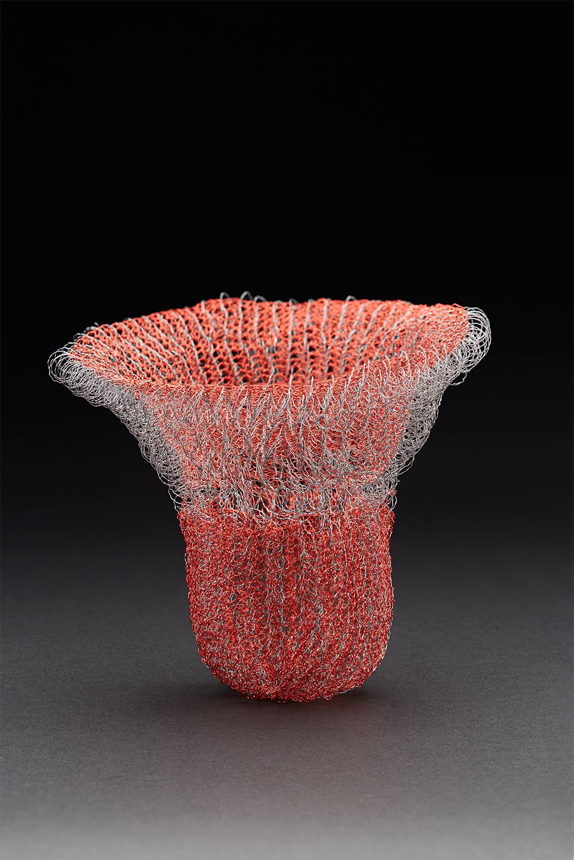 Mieko Kawase  Red 2  , 2017 Wire 6 x 7 x 7 inches 15.2 x 17.8 x 17.8 cm MKe 11