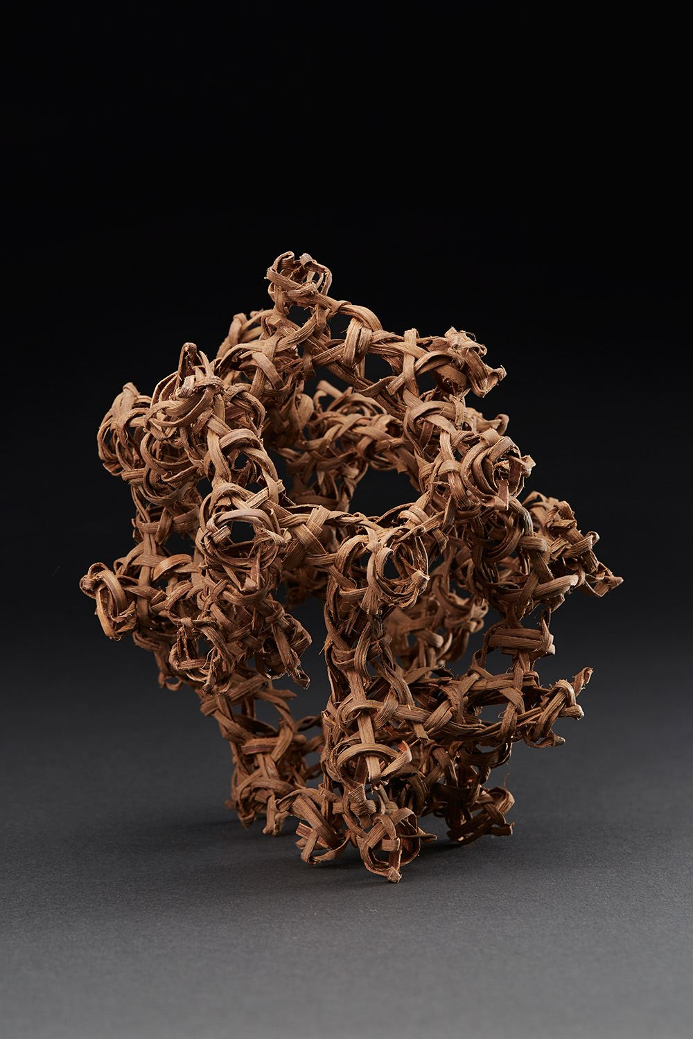 Ritsuko Jinnouchi  TETRA 5 (Four Direction Structure 5)  , 2013 Plaited Vitis Coignetia (Grape vine) 7.09 x 6.1 x 7.48 inches 18 x 15.5 x 19 cm RJi 7