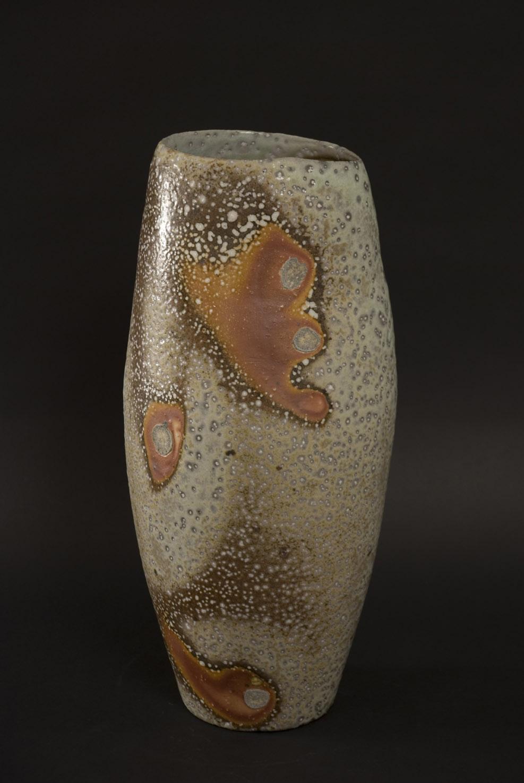 Gail Nichols  Cylindrical Form  , 2008 Stoneware, soda vapor glaze 13.75 x 6.5 x 6 inches 34.9 x 16.5 x 15.2 cm GAN 21