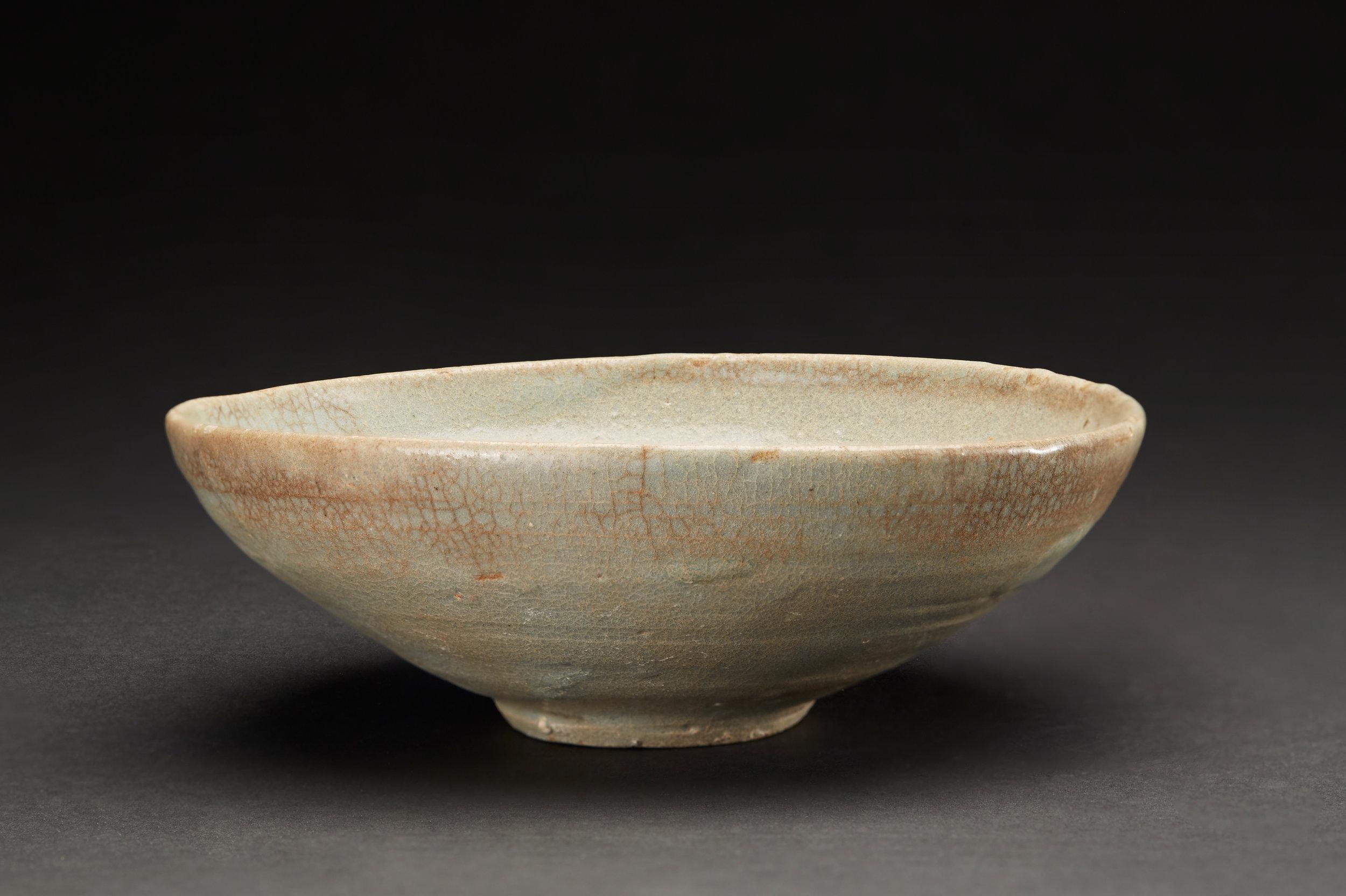 Korean Ceramics  Summer Tea Bowl  , C. Mid-Chosun Period (17-18th Century) Porcelain 6.5 x 2.25 inches 16.5 x 5.7 cm KCer 19