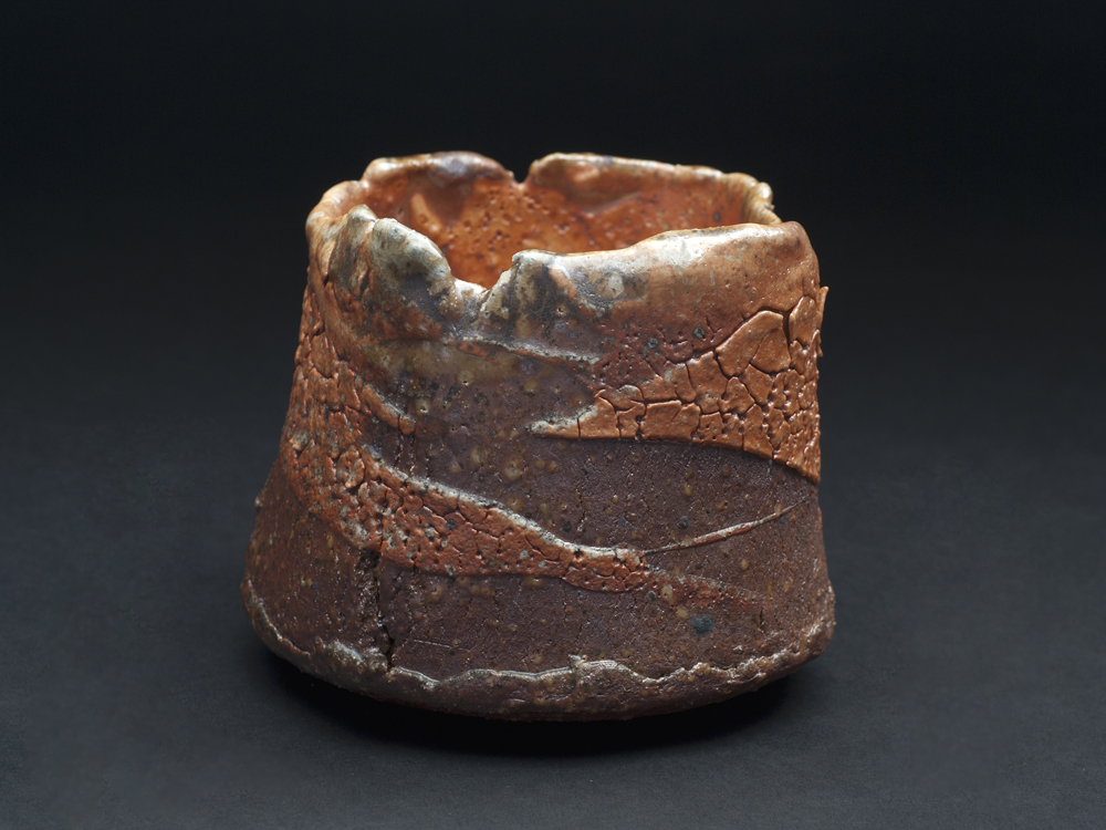 Rick Mahaffey  Shino Tea bowl  , 2012 Handbuilt, woodfired stoneware 4.5 x 5 inches 11.4 x 12.7 cm RMa 1