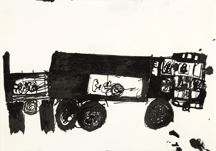 Toshio Okamoto  Truck  , 2006 Ink/paper 7.5 x 5.5 inches 19.1 x 14 cm TOK 12