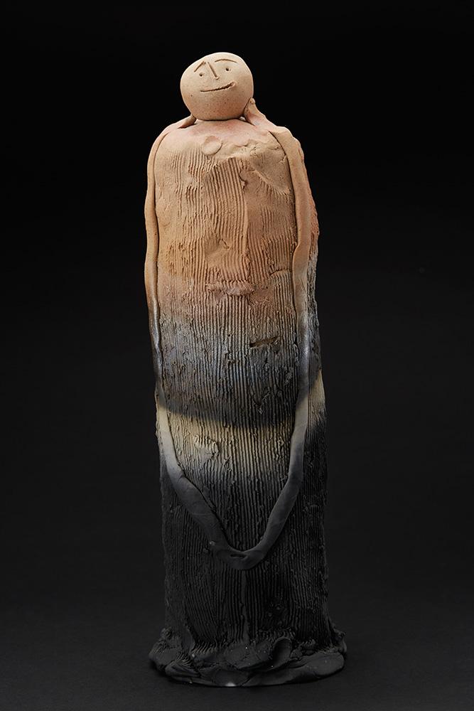 Nahoko Ohara  Jizo  , 2003 Fired Ceramic 19 x 6 x 6 inches 48.3 x 15.2 x 15.2 cm Nah 1