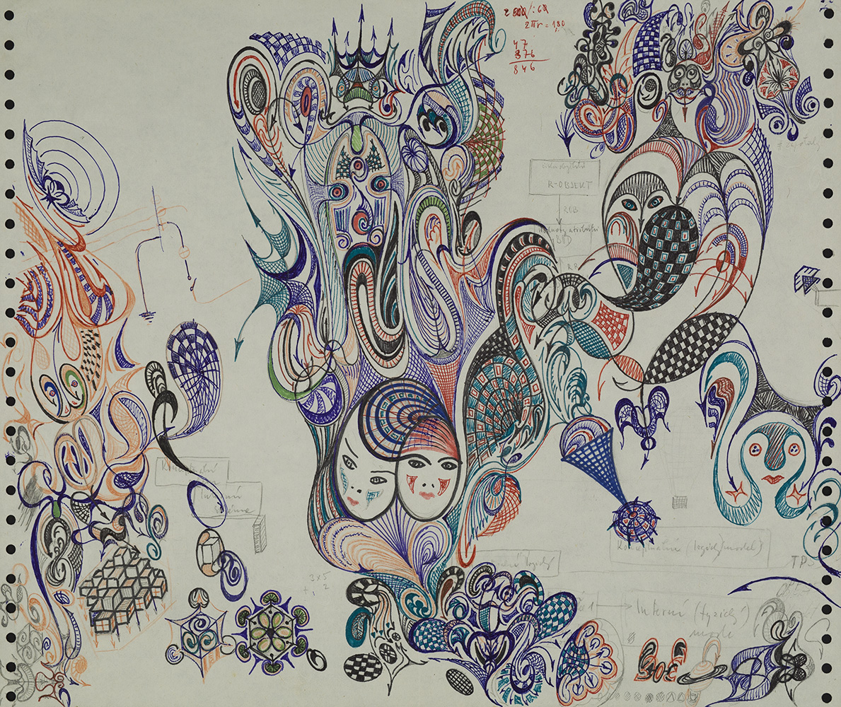 František Dymáček  Untitled  , 1983 Ink on paper 12 x 14 inches 30.5 x 35.6 cm FDy 19