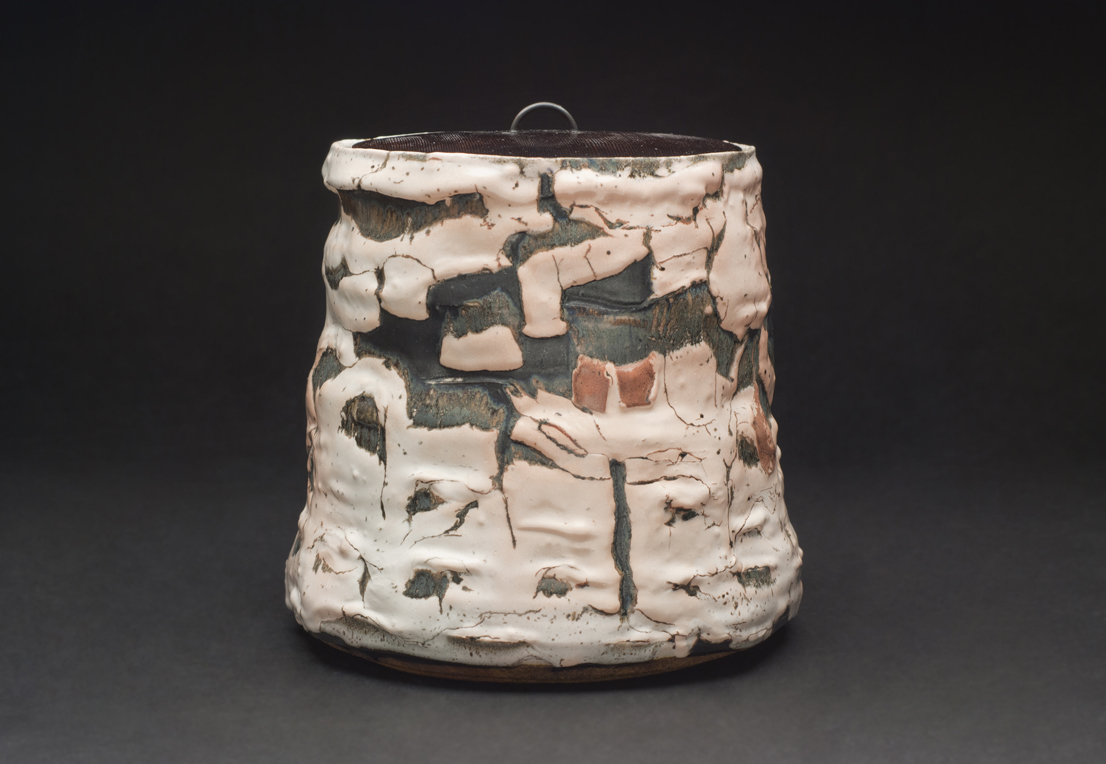 Robert Fornell  Mizusashi  , 2012 Clay, Reduction fired to cone 8 18 x 16 x 16 inches 45.7 x 40.6 x 40.6 cm RFo 56
