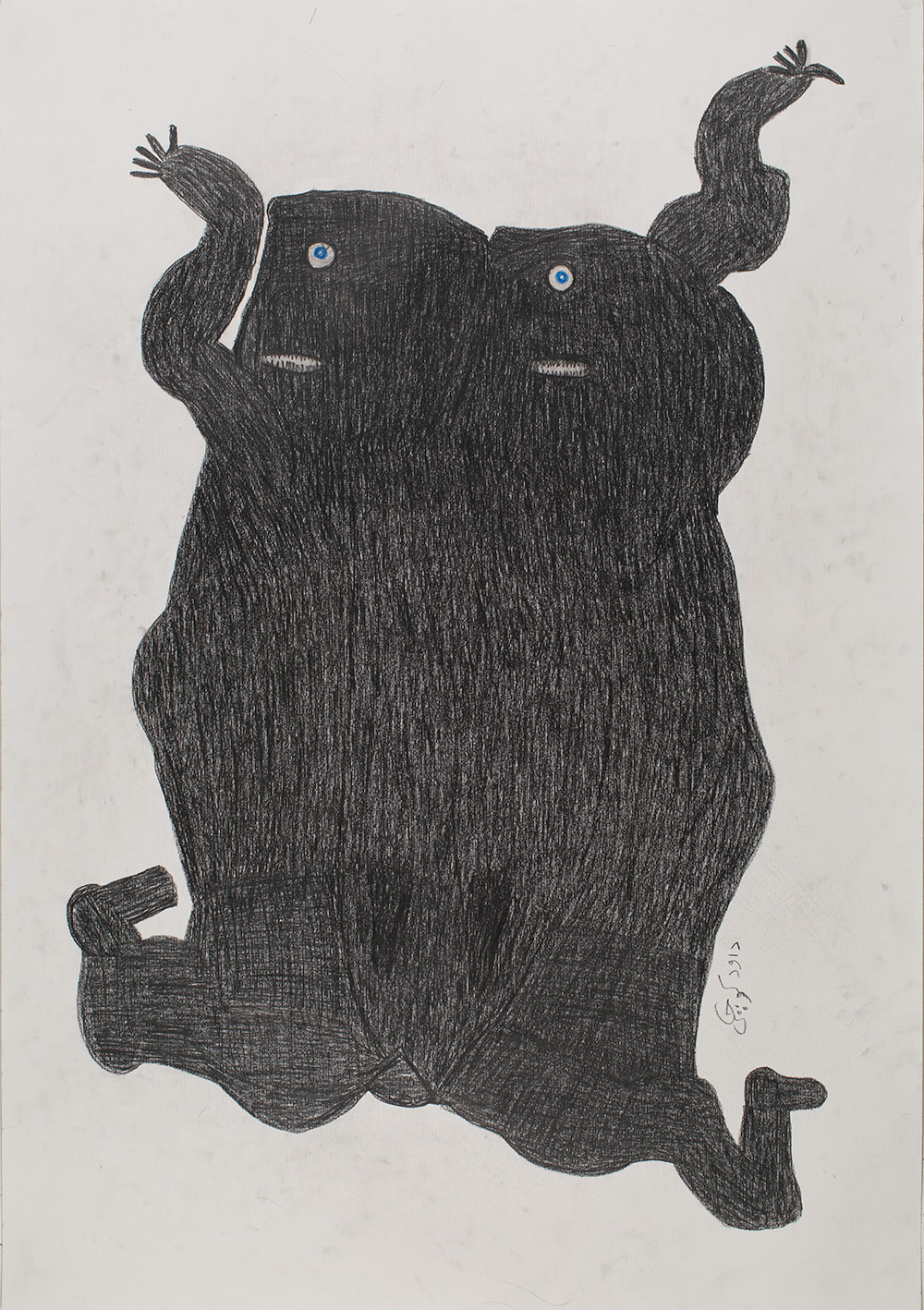 Davood Koochaki,  Untitled  , 2017-2018, Graphite on paper, 39 x 27.5 inches, 99.1 x 69.9 cm, DKoo 23