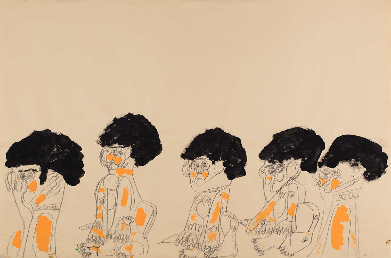 Dwight Mackintosh  Untitled  , 1983 Ink on paper 23 x 35 inches 58.4 x 88.9 cm DwM 4