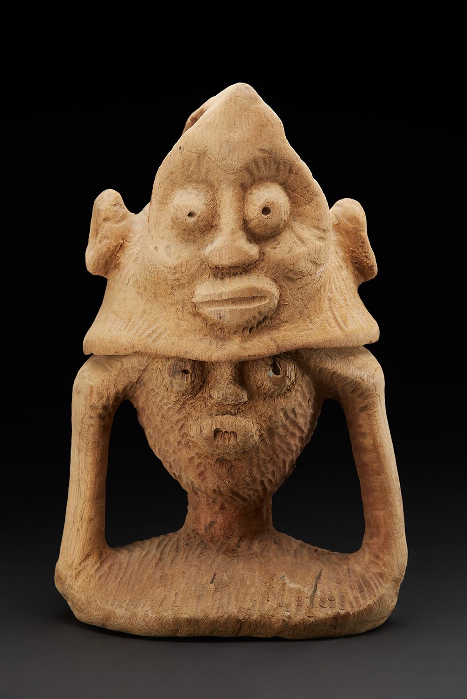Vincent Atherton  Spirit Figure (two pieces)  , 1996 Cedar 17 x 11 x 10 inches 43.2 x 27.9 x 25.4 cm ViA 35