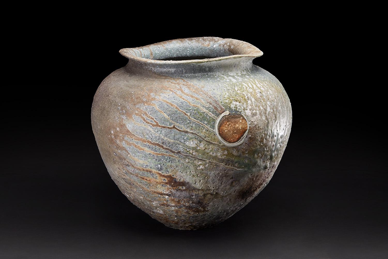 Osamu Inayoshi  Natural Ash Glaze Jar  , 2018 Ceramic 16 x 18 x 18 inches 40.6 x 45.7 x 45.7 cm Oin 17