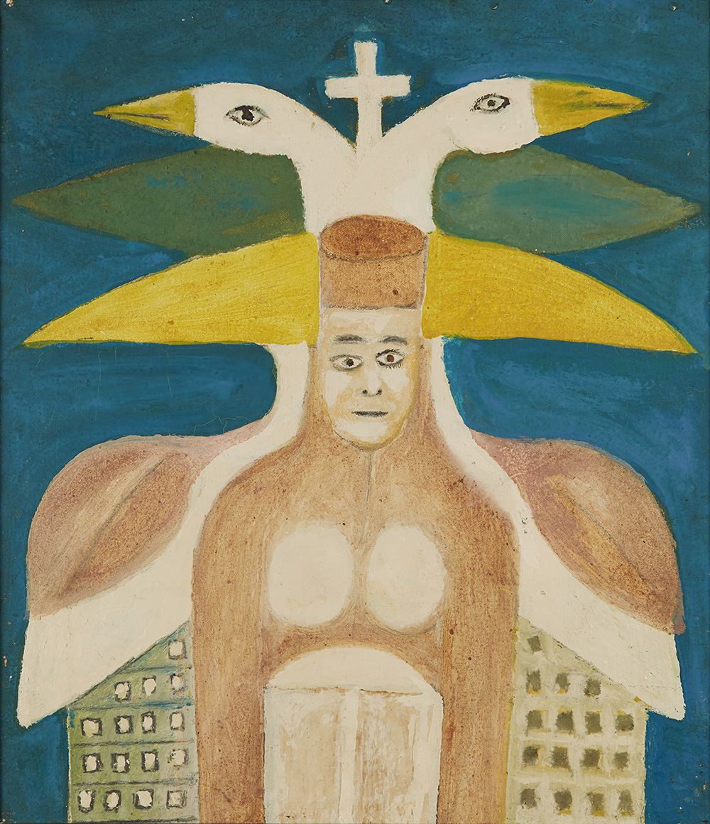 Sava Sekulić  Queen Bajavitovica  , 1974 Oil on canvas 16.25 x 13.75 inches 41.3 x 34.9 cm SvS 2