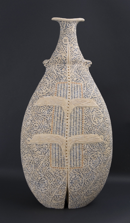Avital Sheffer  Inannah V  , 2009 Handbuilt earthenware 26.77 x 12.99 x 7.09 inches 68 x 33 x 18 cm ASh 2