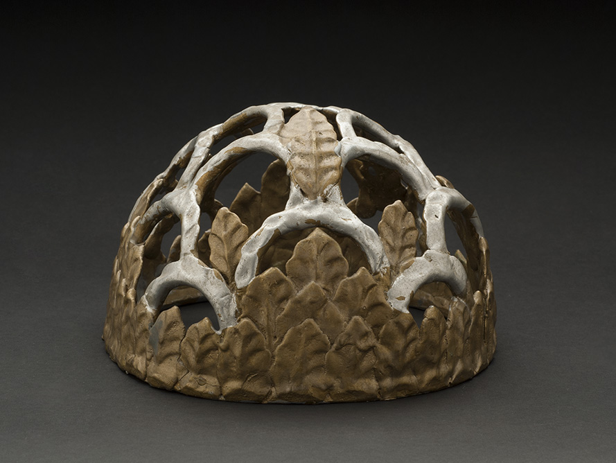 Eugene Von Bruenchenhein  Untitled (crown)  , 1950-1980 Painted Clay 4.5 x 8 x 7 inches 11.4 x 20.3 x 17.8 cm EV 45