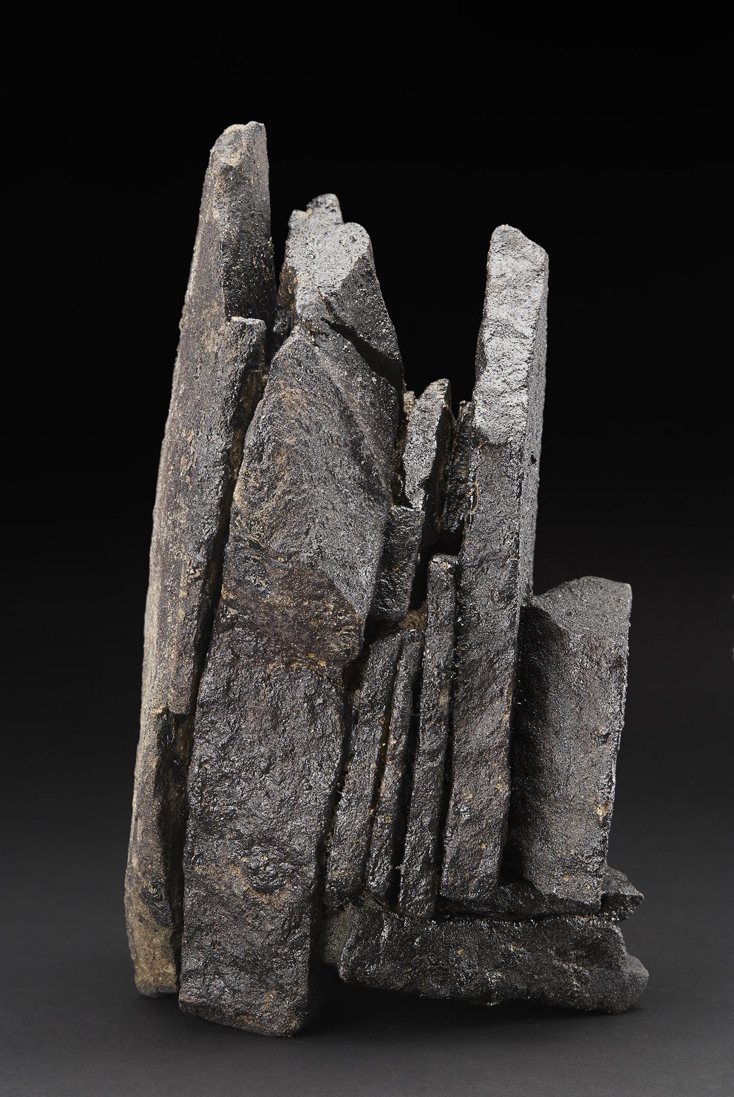 Mitch Iburg  Fond du Lac Formation 2  , 2018 Sandstone fragments, glacial clay, dolomite, limonite 13 x 7 x 9 inches| 33 x 17.8 x 22.9 cm Mib 31