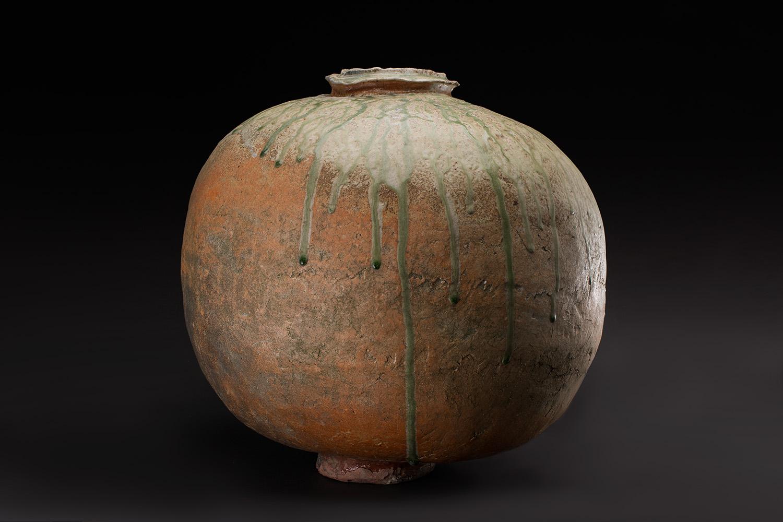 Mike Weber  Tsubo  , 2018 Wood-fired stoneware 17 x 15 x 15 inches 43.2 x 38.1 x 38.1 cm MWe 31