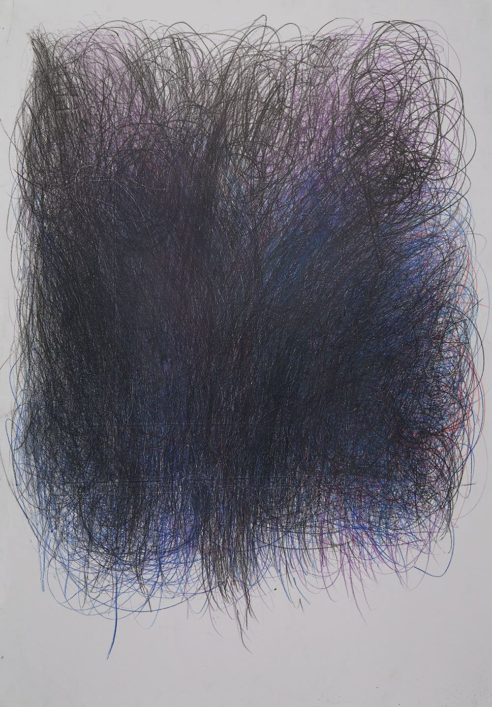 Éric Derochette  Untitled  , 2012 Crayon on paper 39.37 x 27.56 inches 100 x 70 cm DERO 1