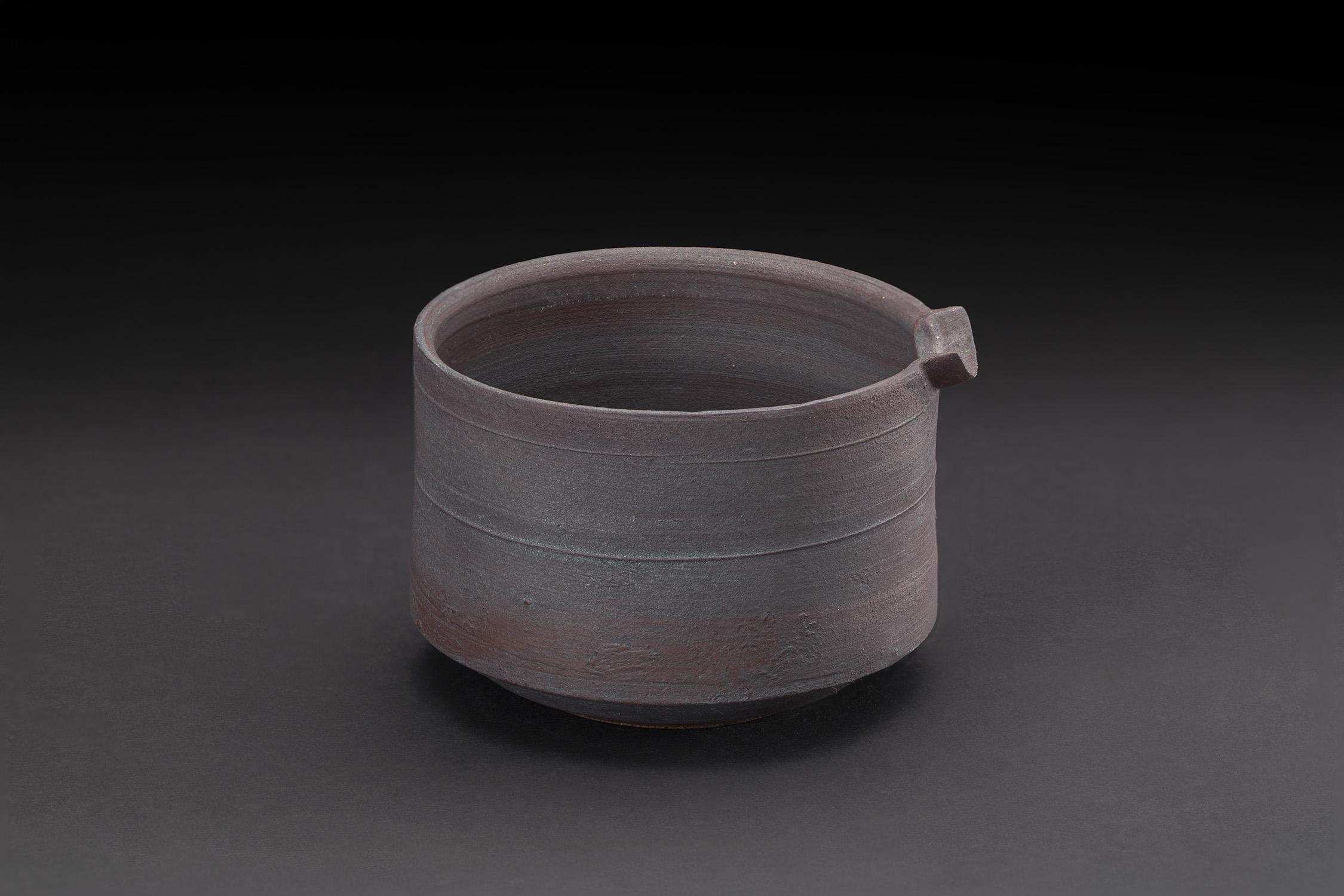 Akihiro Nikaido  Katakuchi  , 2019 Ceramic 3.5 x 4 x 3.75 inches 8.9 x 10.2 x 9.5 cm ANk 121
