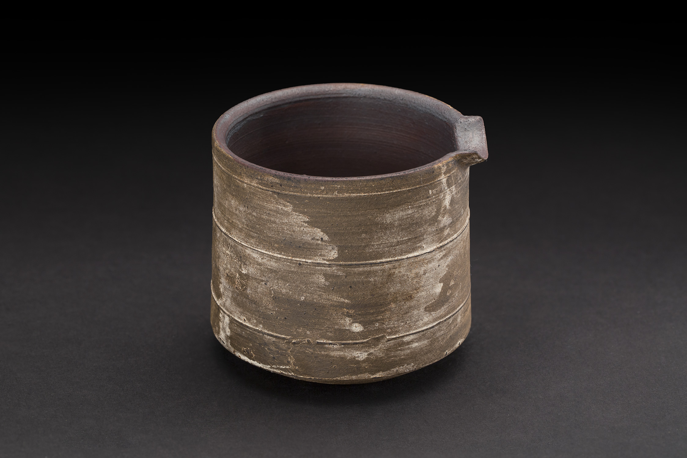 Akihiro Nikaido  Katakuchi  , 2019 Ceramic 3 x 3.25 x 2.75 inches 7.6 x 8.3 x 7 cm ANk 123