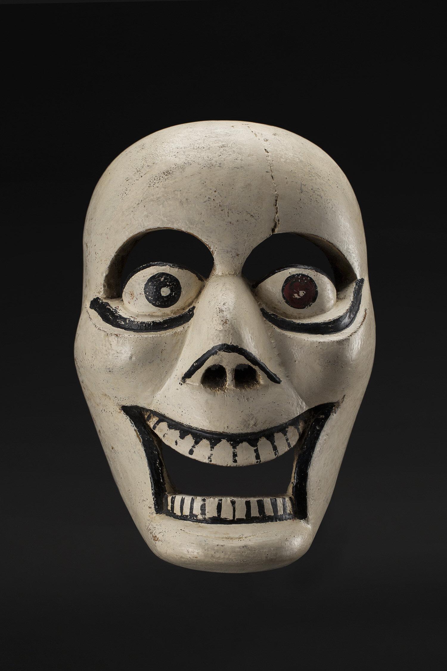 Masks  Veracruz, Naolinco Calavera mask Maskmaker: Lino Mora Rivera  , 1970s Polychrome wood 9.25 x 6.25 x 6.25 inches 23.5 x 15.9 x 15.9 cm M 382