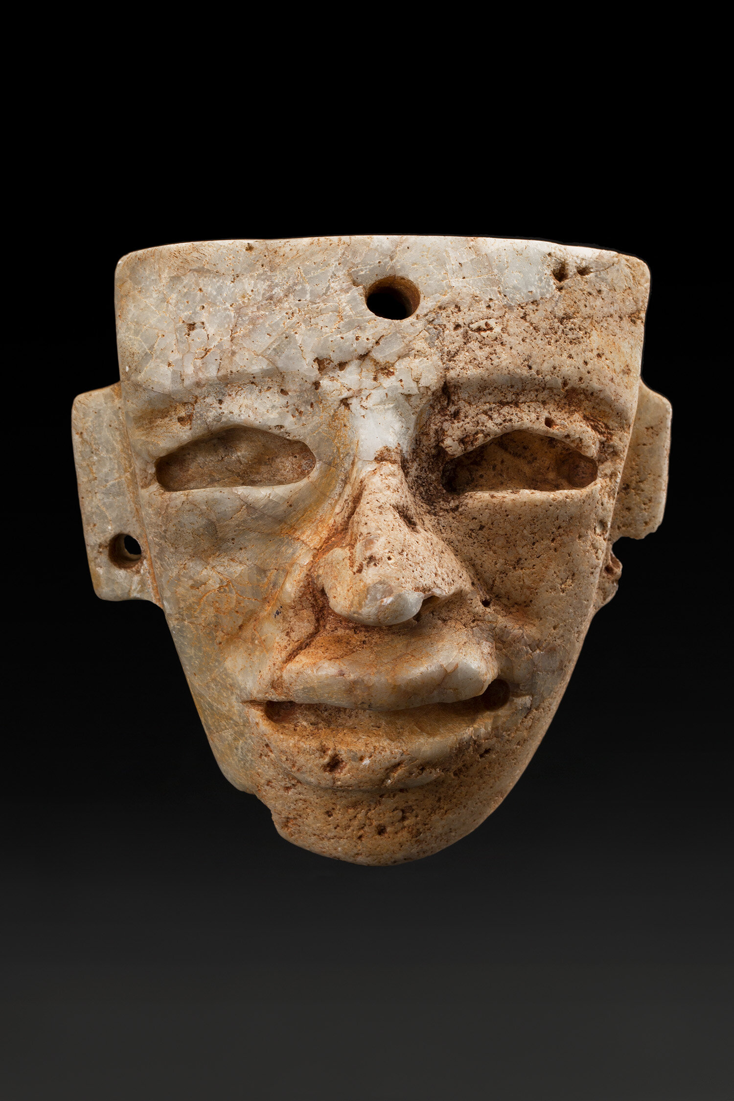 Masks  Teotihuacan  , 250 450 CE Stone 4.5 x 4.25 x 2.5 inches 11.4 x 10.8 x 6.4 cm M 403