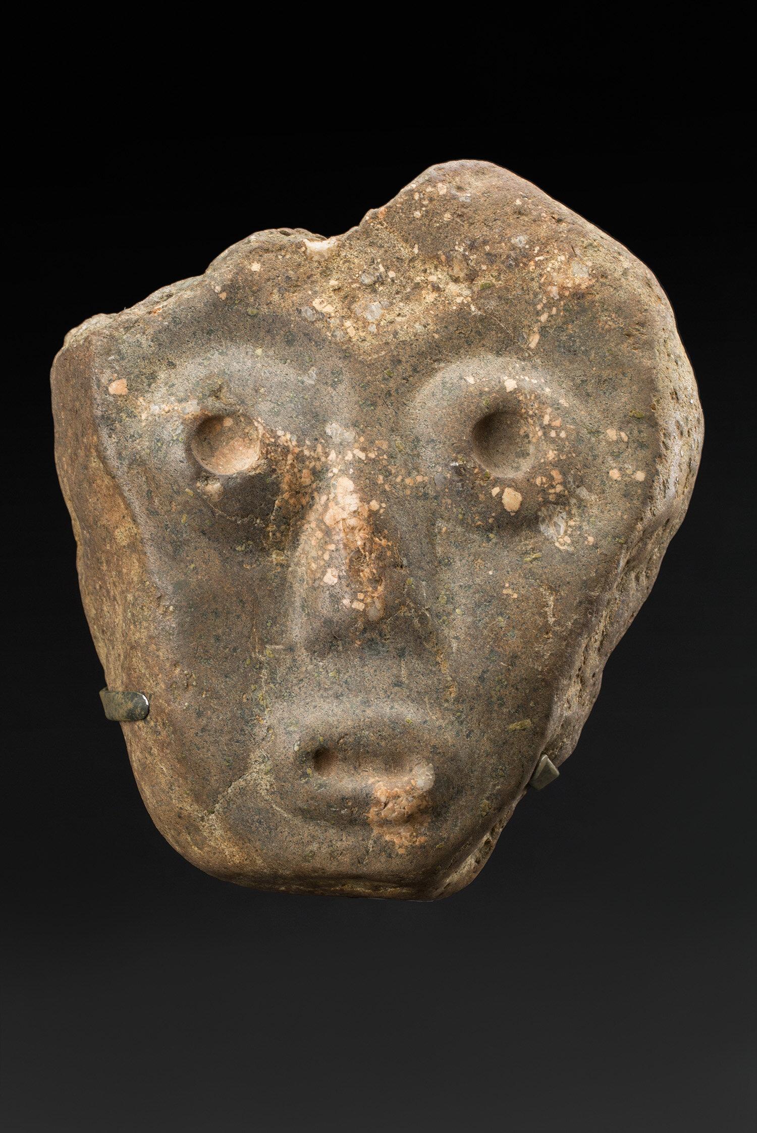 Masks  Guerrero  , ca 3500-2200 BCE Stone 5.75 x 5 x 2.25 inches 14.6 x 12.7 x 5.7 cm M 405